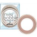 Invisibobble Slim Bronze Me Pretty, 3 kusy originální vlasové gumičky bronzové