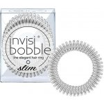 Invisibobble Slim Chrome Sweet Chrome, 3 kusy originální vlasové gumičky chromové